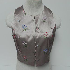 Limited Satin Embroidery Vest Size S